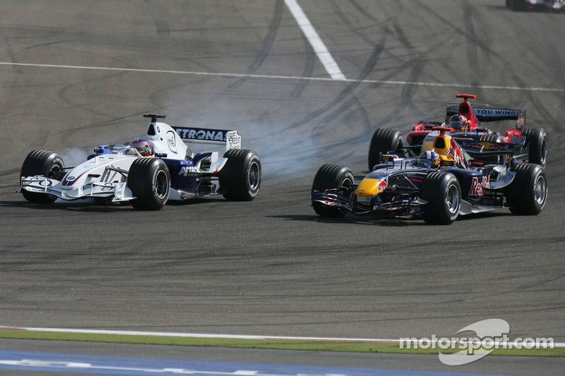 Jacques Villeneuve y David Coulthard