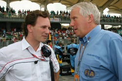 Christian Horner and Charlie Whiting