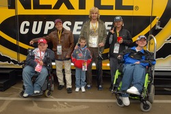 Rob Schneider, David Spade and John Heder meet kids from the Make a Wish Foundation