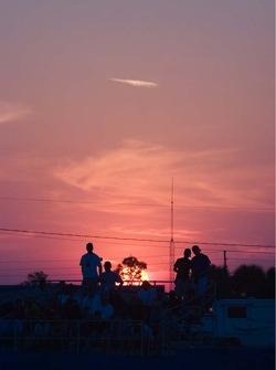 Sunset over Sebring fans