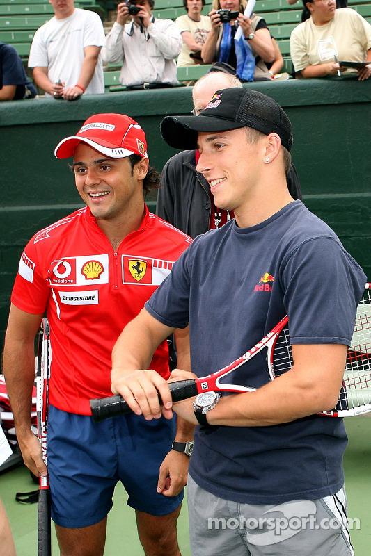Evènement tennis Pro-Am charity: Felipe Massa et Christian Klien