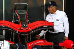 Technical inspection at McLaren