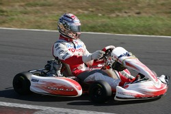 Jarno Trulli at a karting event