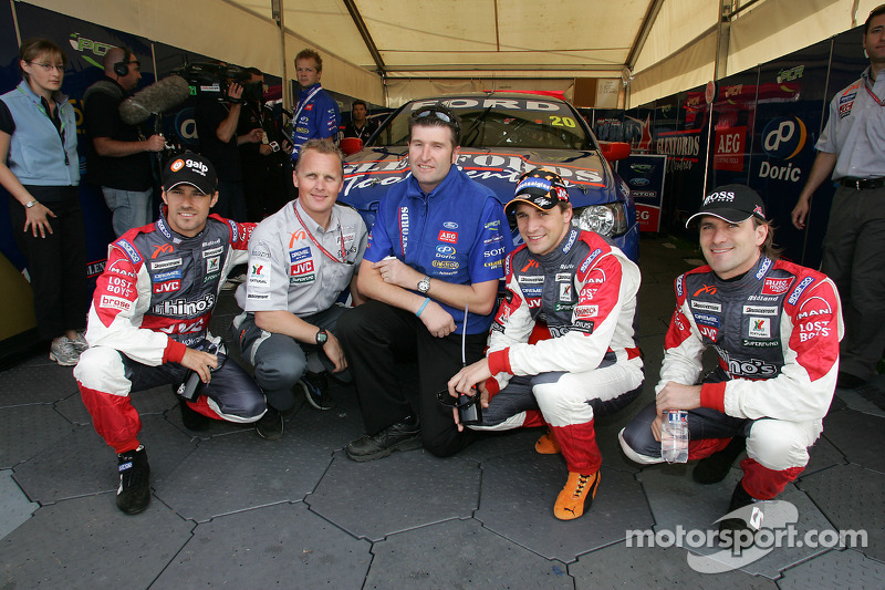 Tiago Monteiro, Johnny Herbert, Paul Cruickshank, Christijan Albers and Markus Winkelhock