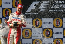 Podium: champagne for Ralf Schumacher