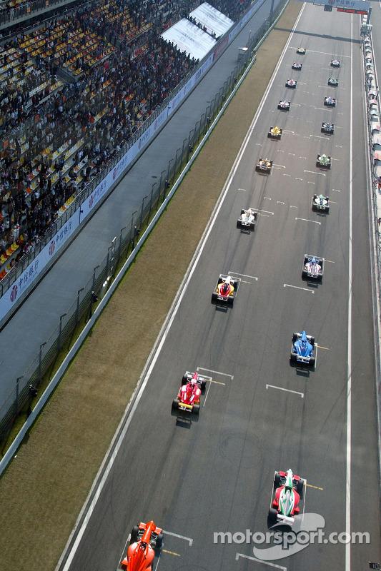 La grille de départ de la course