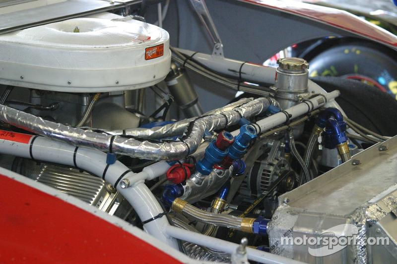 Vue détaillée sur l'assemblage de moteur