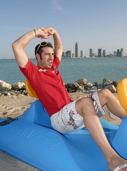 Marco Melandri relaxes