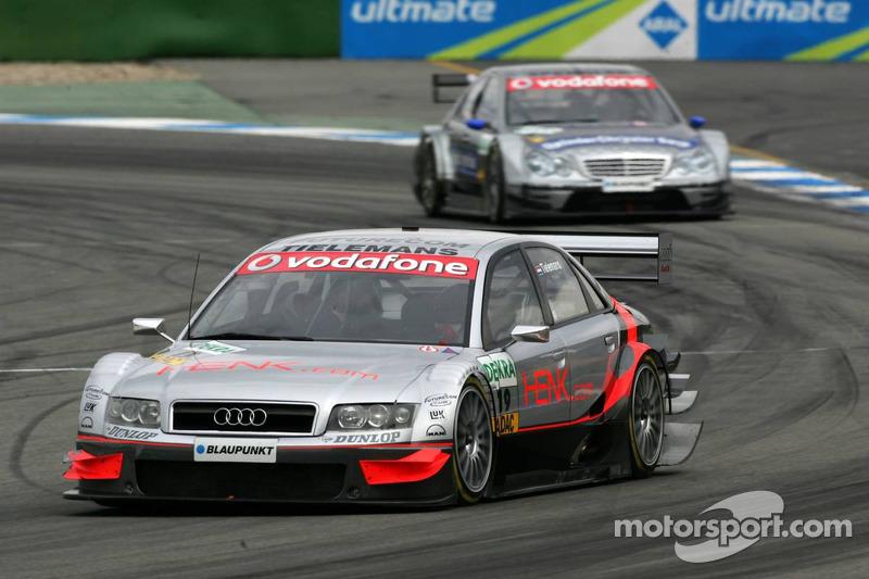 Olivier Tielemand devant Mika Hakkinen
