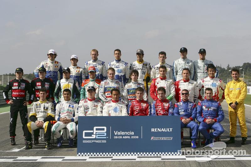 Séance photo: les pilotes GP2