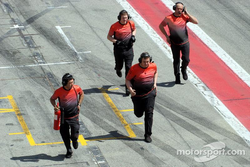 Mécaniciens McLaren