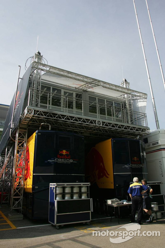 Red Bull Racing paddock area