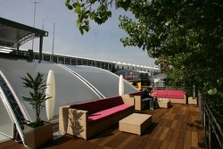 On the roof of the Red Bull Energy Station
