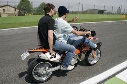 Vitantonio Liuzzi with Michael Ammermueller on his KTM