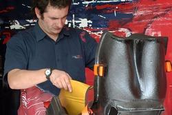 A Scuderia Toro Rosso mechanic