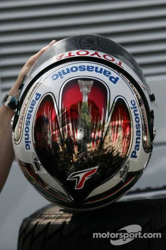 Le nouveau casque de Jarno Trulli