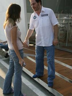 Jacques Villeneuve with his girlfriend Johanna