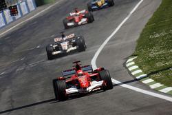 Michael Schumacher leads the field