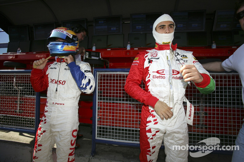 Franck Perera et Ferdinando Monfardini se préparent