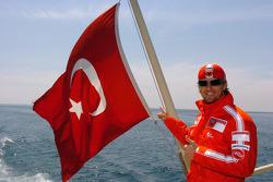 Sete Gibernau cruises the Bosphorus in Istanbul