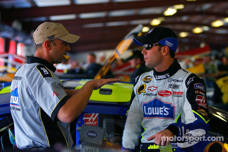 Jimmie Johnson et Chad Knaus