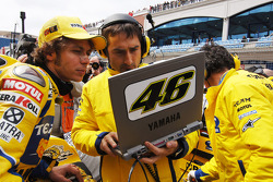 Valentino Rossi en la parrilla de salida