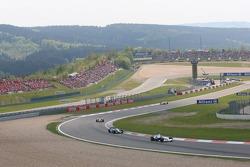 Jacques Villeneuve leads Giancarlo Fisichella