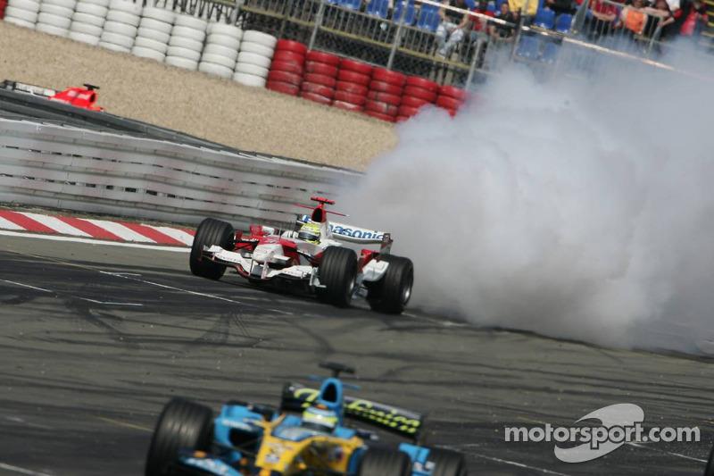 Le moteur de Ralf Schumacher explose