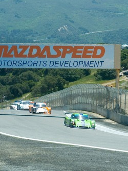 #76 leads a group of prototypes up the hill