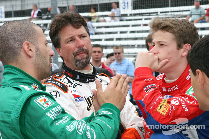 Tony Kanaan, Michael Andretti et Marco Andretti