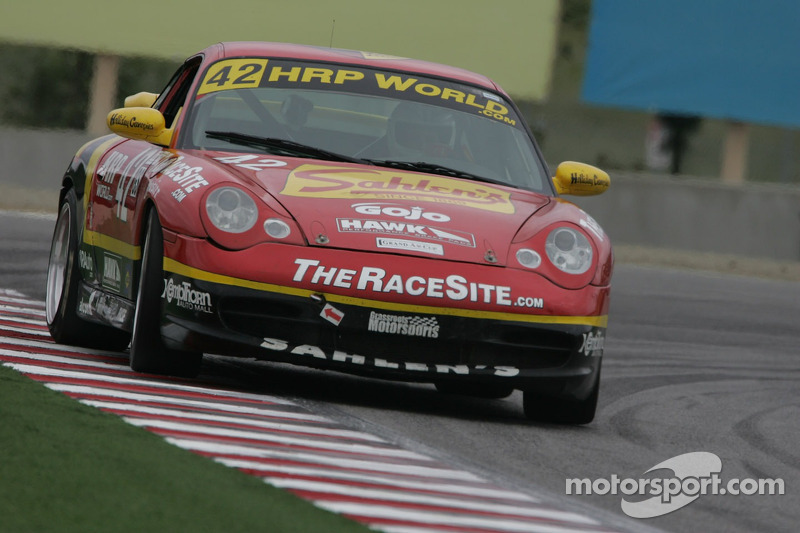 #42 Team Sahlen Porsche 996: Tomy Drissi, Joe Nonnamaker