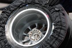A Michelin tire with a Avus rim