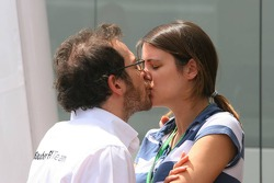 Jacques Villeneuve with girlfriend Johanna