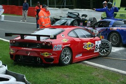 Crash at the start: #84 Team Icer Brakes Ferrari F430 GT: Jesus Diez Villarroel