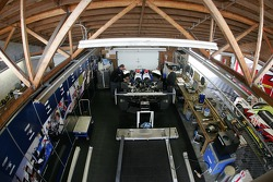 Dyson Racing garage area