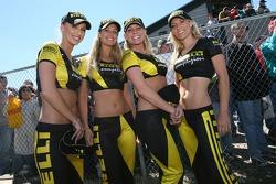 The lovely Pirelli girls at the podium ceremony
