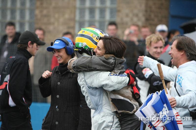 Bruno Senna avec sa mère