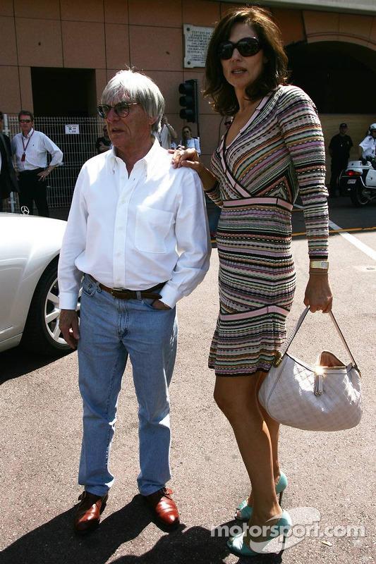 Bernie Ecclestone avec sa femme Slavica Ecclestone