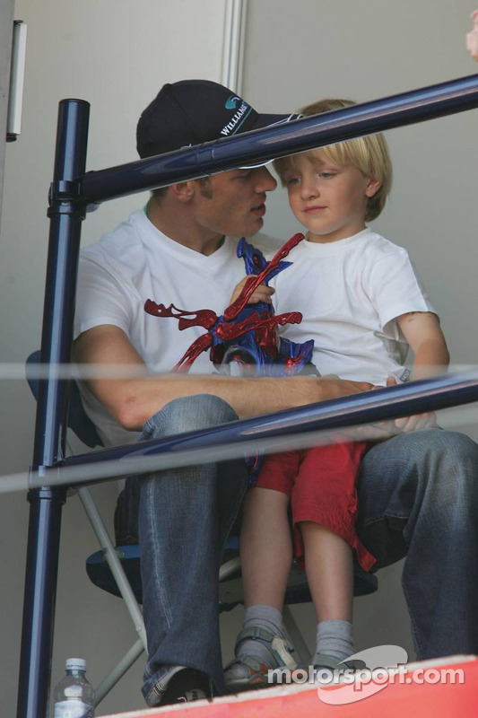 Alexander Wurz avec son fils