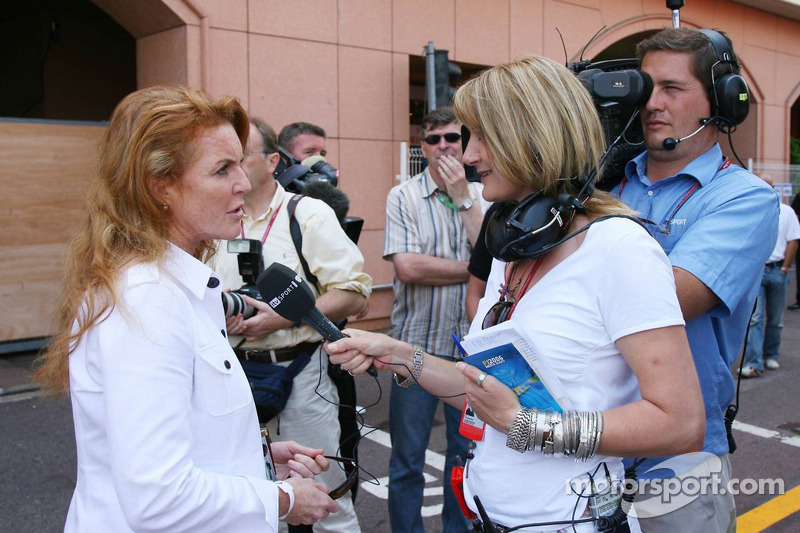 Louise Goodman, le reporter ITV avec Sarah Ferguson