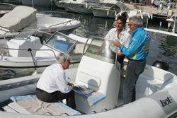 Bernie Ecclestone and Flavio Briatore discuss Michael Schumacher's qualifying incident