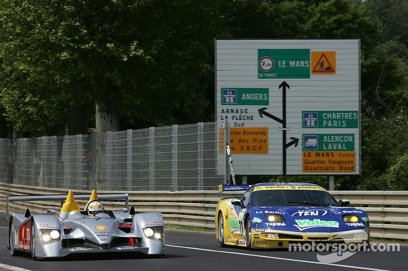 #7 Audi Sport Team Joest Audi R10: Allan McNish, Rinaldo Capello, Tom Kristensen, #72 Luc Alphand Av