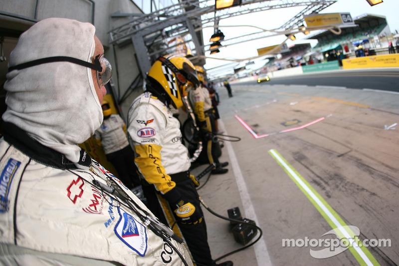 Un membre de l'équipe Corvette Racing prêt à y aller