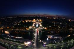 Paris by night: overlooking the Trocadero
