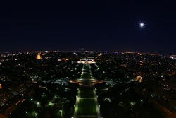 Paris by night: overlooking the Champ de Mars