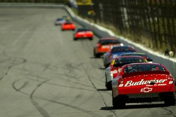 Dale Earnhardt Jr. follows the lead group