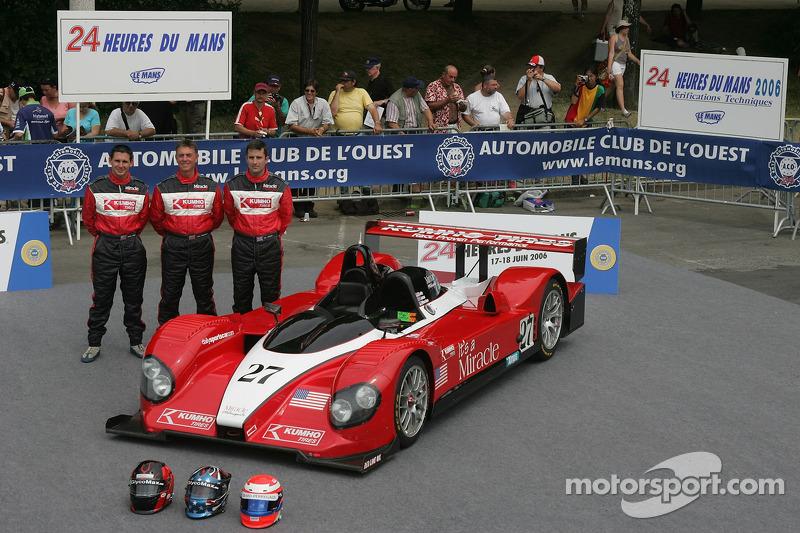 John Macaluso, Ian James, James Gue avec la Miracle Motorsports Courage C6510 AER