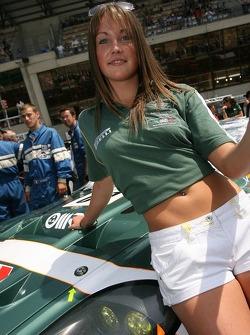The BMS Scuderia Italia flag girl