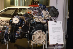 BMW engine on display