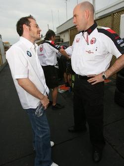 Jacques Villeneuve and Jock Clear